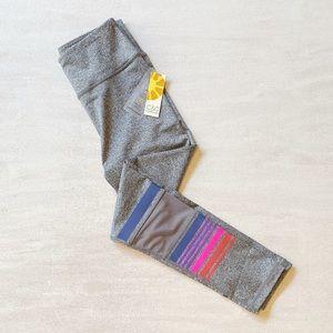 C & C CALIFORNIA Gray stripe leggings sz m